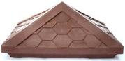 Колпак (оголовок) заборный для заборных столбов коричневый